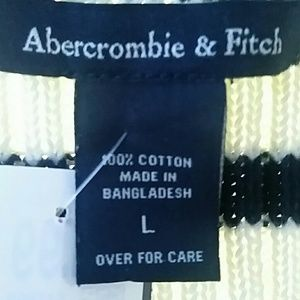Abercrombie & Fitch cropped striped tie sweater